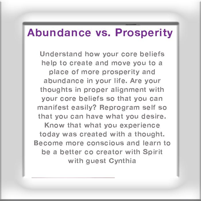 Abundance Prosperity