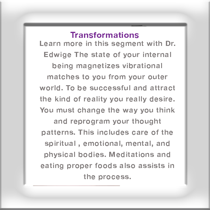 Transformations – Reprogram Thoughts